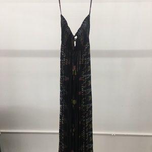 Indah Flamingo Maxi Dress - Black Endek